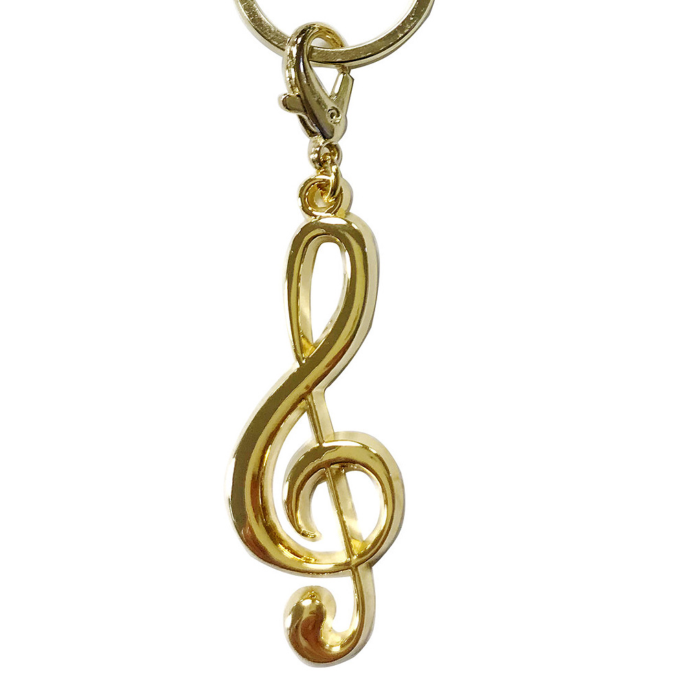 オールミュージックキーホルダー ト音記号 ゴールド