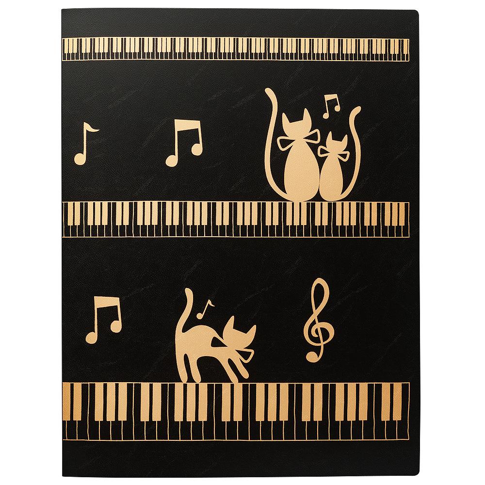 ライティングファイル ネコとケンバン ブラックゴールド