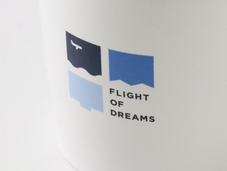 FLIGHT OF DREAMS マグカップ ロゴ