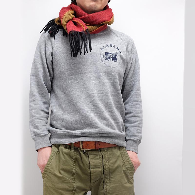 メンズマフラー【レッド/イエロー】リバーシブルウール混・イタリアの男性用マフラー 30cm幅*170cm/冬の防寒・通勤通学におすすめ