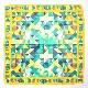 スカーフ トライアングル【イエロー】シルク100% 正統派ツイル/イタリア製 87cm正方形 1年中使えるスカーフ