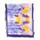 大判ストール インクフラワー【青パープル】シルクモダール ふわっと軽やかな大判/イタリア製 67*165cm 春夏ストール