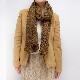 マフラー【レース・カーキ】ニット編み・イタリアの女性用マフラー 33*166cm/冬のレディースマフラー