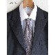 男性ネクタイ 点描画のようなこだわり生地【ブラウン】上品で美しい織り地のシルク100%・父の日ギフトにも/イタリア製 8*147cm ネクタイ