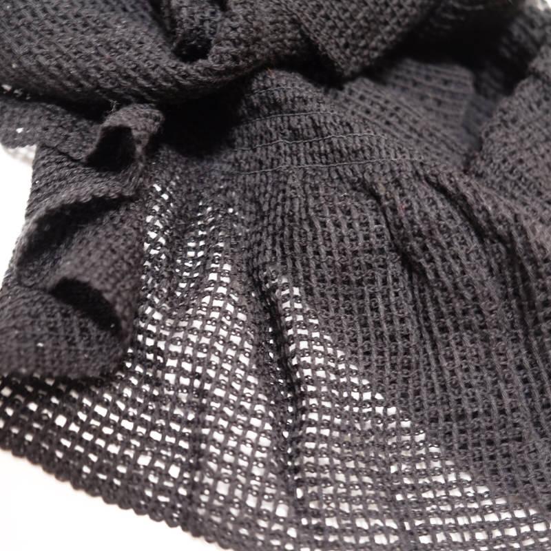 マフラー【変形レース・ブラック】エレガントなイタリアの女性用マフラー 35*150cm/冬のレディースマフラー