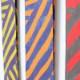 メンズストール・おしゃれな薄手マフラー【ストリィシア・イエロー(黄×紫)】21cm幅*175cm 長方形 イタリア製 秋冬春向き