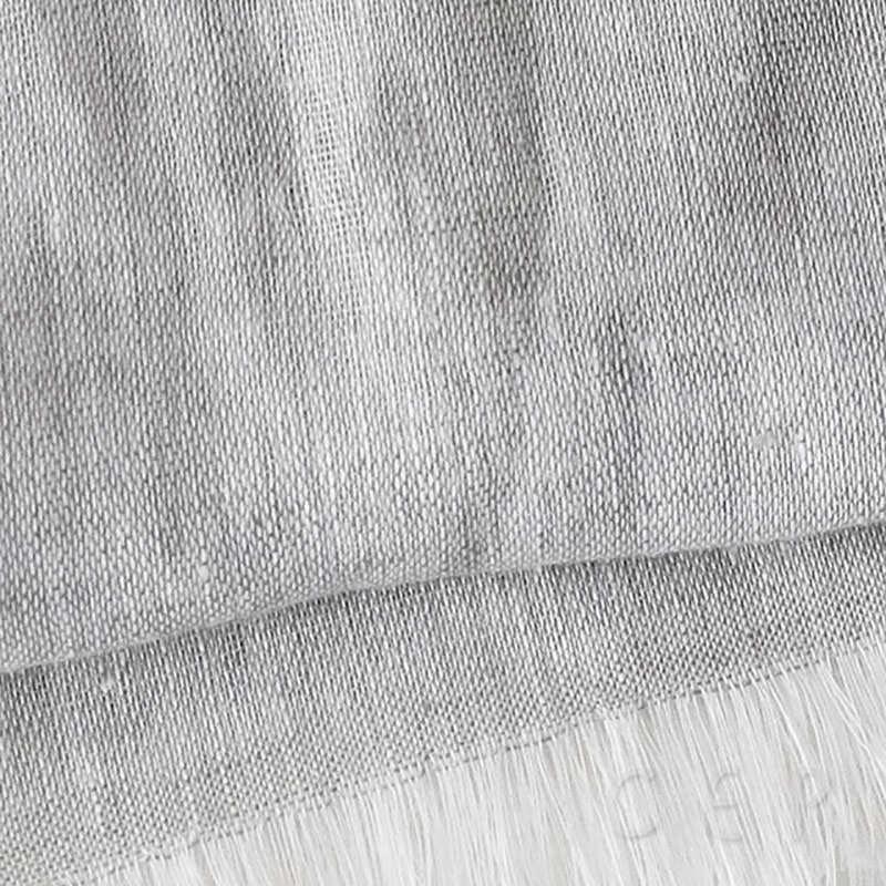 リネンストール 淡色無地【シルバーグレー】春コートに似合う大きめサイズ・亜麻100%のやさしい肌触り/イタリア製 55*195cm 春夏ストール