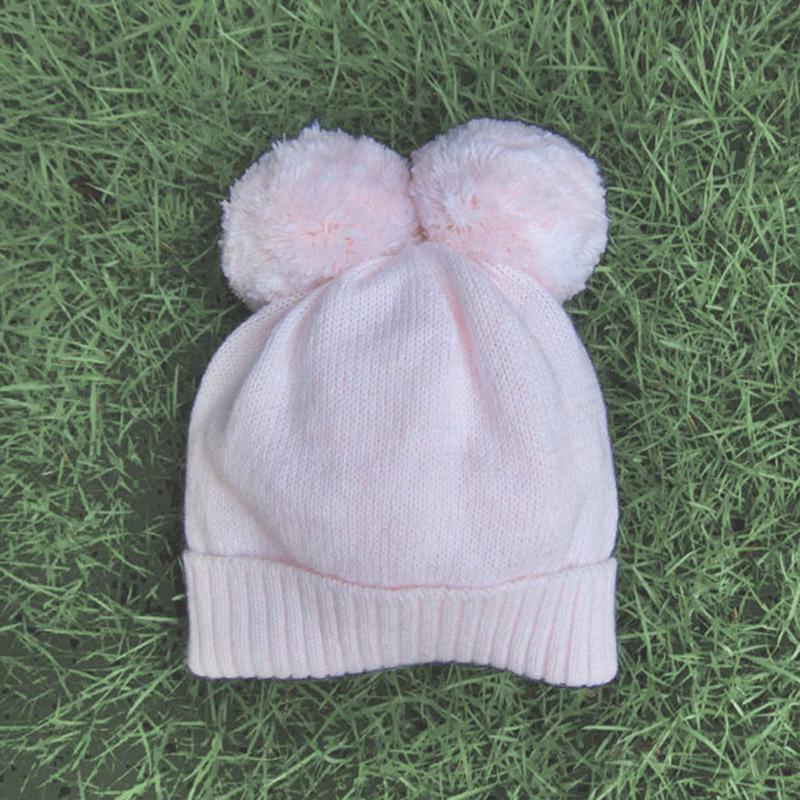 ベビー用ニット帽 耳付き【ピンク18ヶ月【1才半】まで用】繊細なメリノウール100%・赤ちゃん1歳の誕生日お祝いにも/イタリア製 ベビー帽子