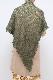 ショール【三角レース・カーキ】イタリア製 女性用ショール 長辺150cm/冬のレディースショール