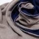 マフラーメンズ【ネイビー&ブラウン色・ドッピオ】カシミアウール混 ミラノのファクトリーブランド/28cm幅*170cm/男性マフラー