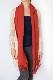 マフラー【無地・レッド】ウール混・イタリアの女性用マフラー 39cm幅*200cm/冬の防寒・通勤通学に