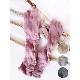 ニット手袋 ロング【ピンク】ウール混・ぬくぬく可愛いニットグローブ/イタリア製 長さ40cm 秋冬 手袋