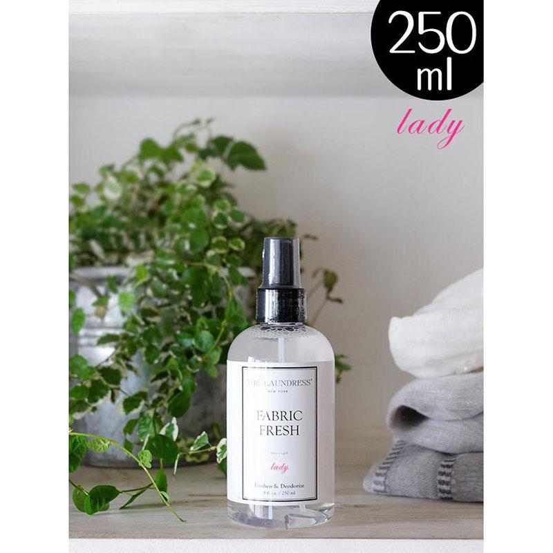 ザ・ランドレス仕上げ剤/ニオイを抑える布用ミスト:ファブリックフレッシュ/250ml/Ladyの香り/NY発ブランド THE LAUNDRESS