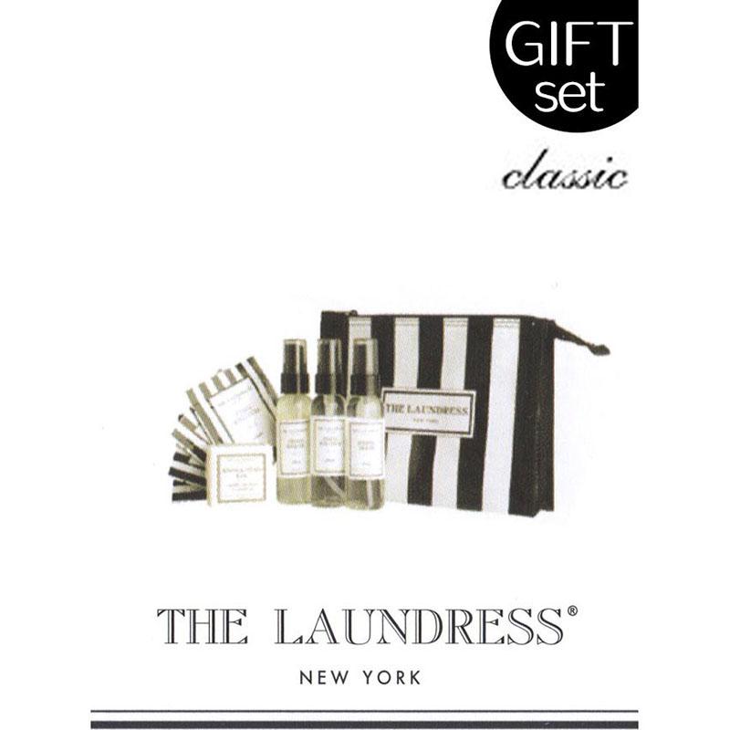 ザ・ランドレス ギフト/外出・旅行向きのコンパクトなお手入れセット/全5品ポーチ入り/Classicの香り/NY発ブランド THE LAUNDRESS
