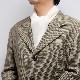 メンズマフラー カシミヤウール混【オフホワイト】カシミアが得意なミラノのファクトリーブランド/32幅*190cm/男性マフラー