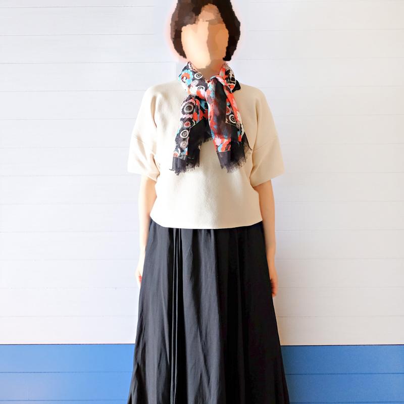 大判スカーフ レディース 春夏物 薄手【花火 ブラック色】羽織れる 母の日ギフトにおすすめ シルクストール正方形 イタリア製120cmスクエア