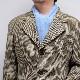 メンズマフラー カシミヤウール混【ライトブルー】カシミアが得意なミラノのファクトリーブランド/32幅*190cm/男性マフラー