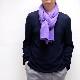 メンズマフラー カシミヤウール混【パープル】カシミアが得意なミラノのファクトリーブランド/32幅*190cm/男性マフラー
