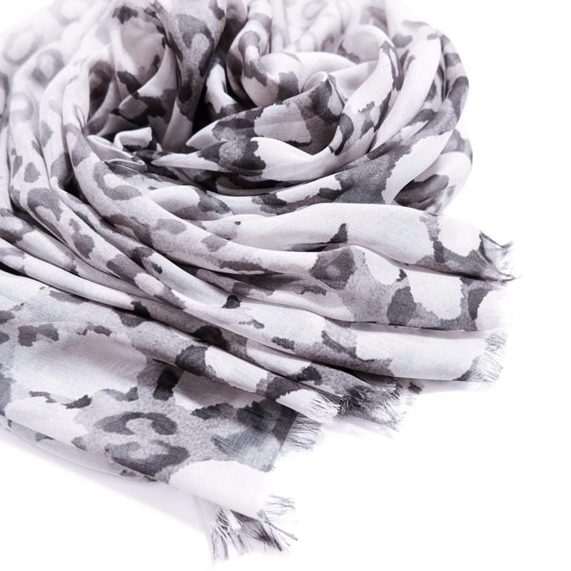 ストールメンズ 春夏物【SALE レオパード グレー色】薄手 大判ストール 男性 イタリア製70cm*200cm