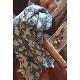 大判ストール 水玉リバーシブル【ネイビー】ウール混・羽織れる&ひざかけになる大判/イタリア製 80*180cm 秋冬ストール