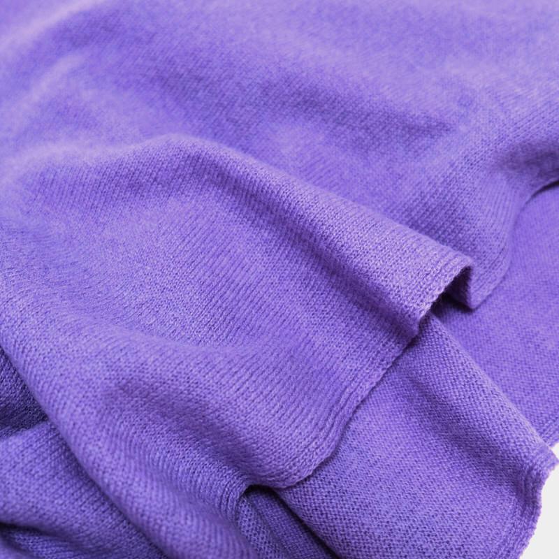 マフラー カシミヤウール混【パープル】カシミアが得意なミラノのファクトリーブランド/32幅*190cm/レディースマフラー