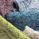 ショール【蹄鉄型ニット・グレイッシュブルー】イタリア製 女性向け/28cm*190cm/冬のレディースショール