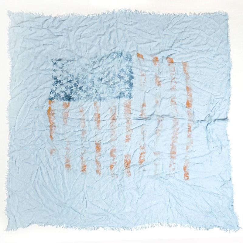 メンズストール アメリカ【ライトブルー】ビスコース くたっと柔らか/イタリア製 130cm角 1年中使えるストール