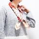 スカーフ イタリア製【レッド・ジャルディーノ】88cm正方形/春夏スカーフ・1年中使える正統派シルクツイル