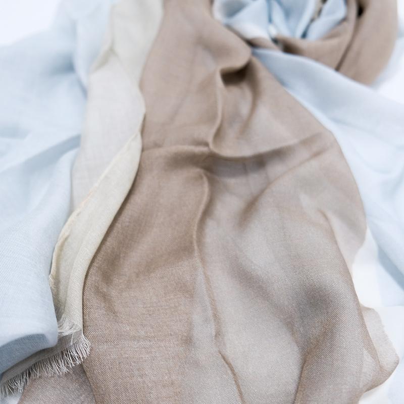 メンズストール イタリア製【ベージュグレー・ロッチャ】66cm幅*205cm 長方形/男性におすすめ春夏ストール・秋ストール