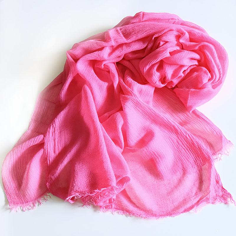 大判ショール カシミヤ混【フューシャピンク】肌触りふわふわ/イタリア製 90*200cm 1年中使えるストール