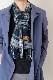 メンズマフラー【チェック・グリーン】ウール混・イタリアの男性用マフラー 30cm幅*170cm/冬の防寒・通勤通学におすすめ