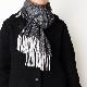 メンズマフラー【ドット・ブラック】ウール混 イタリアの男性用マフラー 38cm幅*196cm/冬の防寒・通勤通学におすすめ