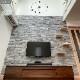 【天然石シール】ライトストーンウォールシリーズ シールタイプ レッジストーン サンジャニーホワイト 30枚セット