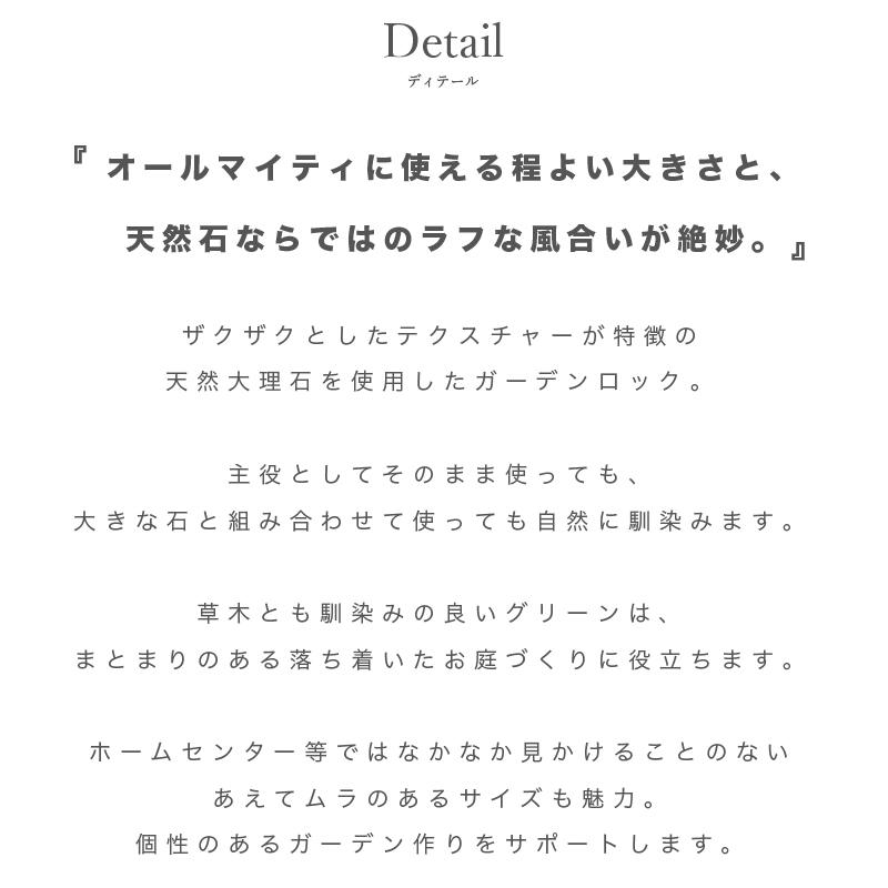 【ガーデン化粧砂利 天然石】  グラーヴァシリーズ グラベルストーン グリーン ラフ 20kg
