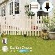 【フェンス】ピケットフェンス ガーデンフェンス 天然木製 柵 (ピケットフェンス ストレート基本セット/土中用)メーカー直送代引き不可・送料無料