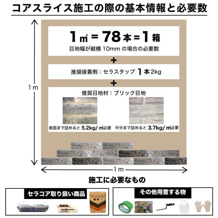 【レンガ調ブリックタイル】コアスライス 全色 バラ販売  ブリックタイル
