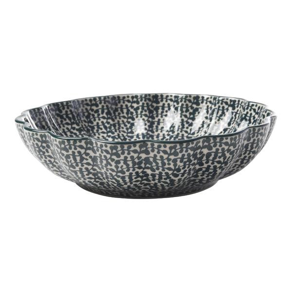 フォーリアベルデ 波型盛鉢(20cm)