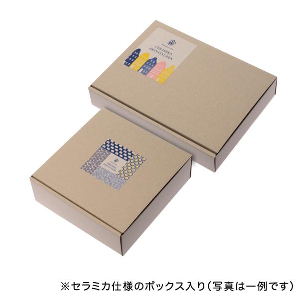 チェック 小判型ボウル(21cm)