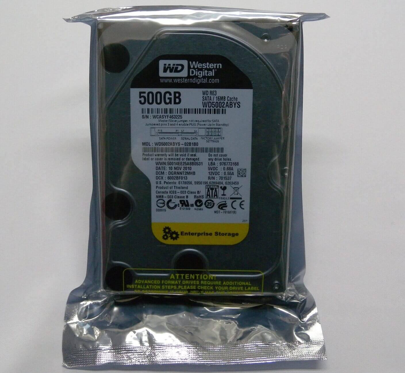 送料無料,Western,Digital,RE3,HDD,500GB,Sata,16MB,Cache,WD5002ABYS