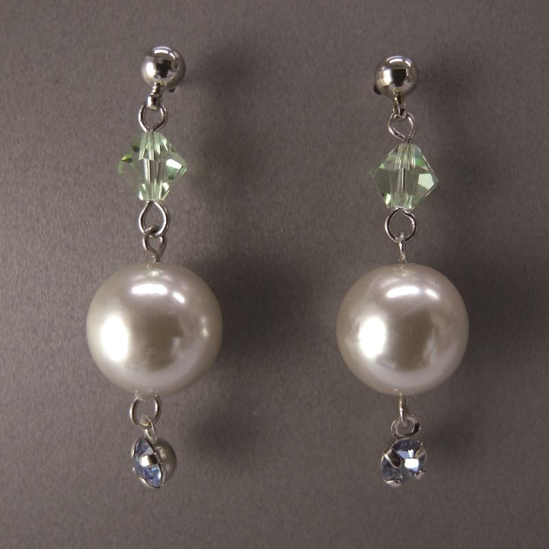 送料無料,ピアス,009,パール,グリーン,earrings,pearl,green,アクセサリー