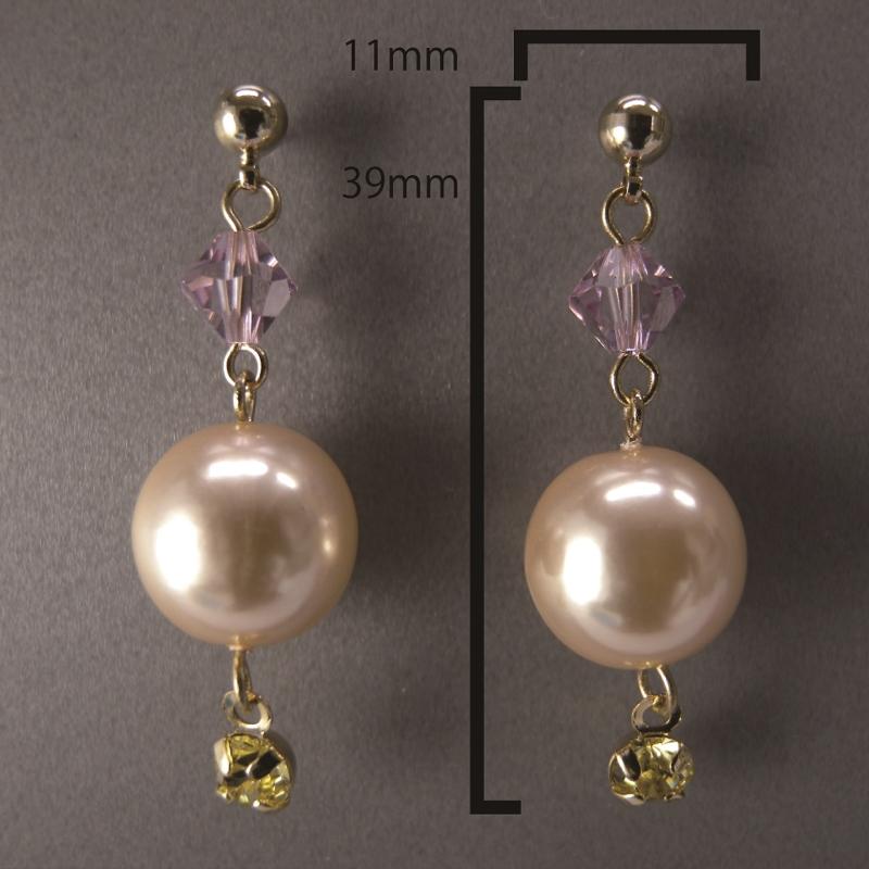 送料無料,ピアス,010,パール,ピンク,earrings,pearl,pink,アクセサリー