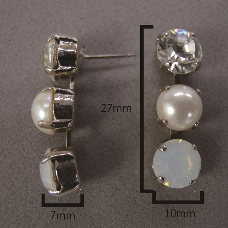 送料無料,ピアス,012,パール,クリスタル,ホワイト,earrings,pearl,white,アクセサリー