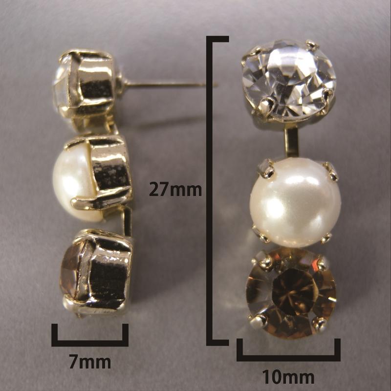 送料無料,ピアス,014,パール,クリスタル,ブラウン,earrings,pearl,brown,アクセサリー