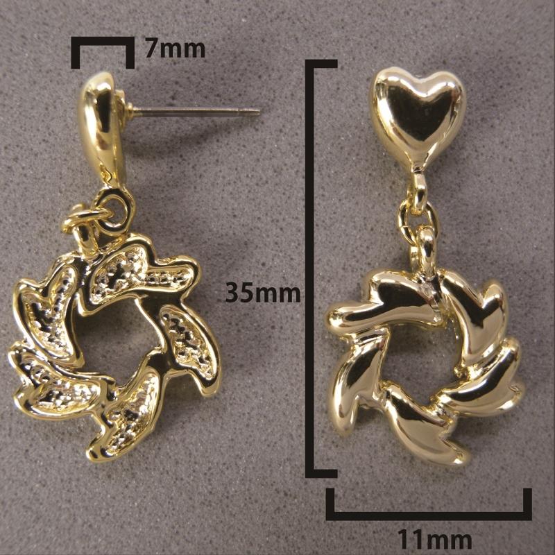 送料無料,ピアス,019,ハート,ゴールド,earrings,heart,gold,アクセサリー
