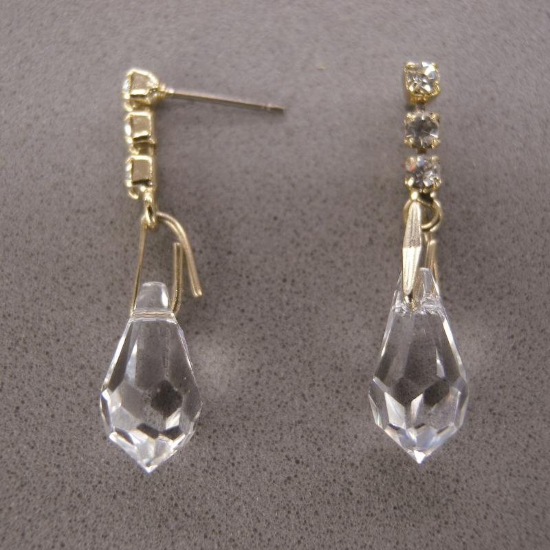 送料無料,ピアス,008,クリスタル,ゴールド,earrings,cristal,アクセサリー