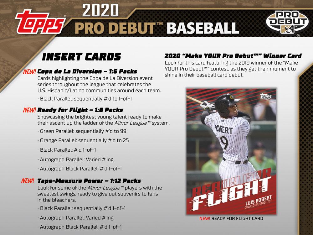 MLB 2020 Topps Pro Debut Baseball Hobby 6/19入荷!
