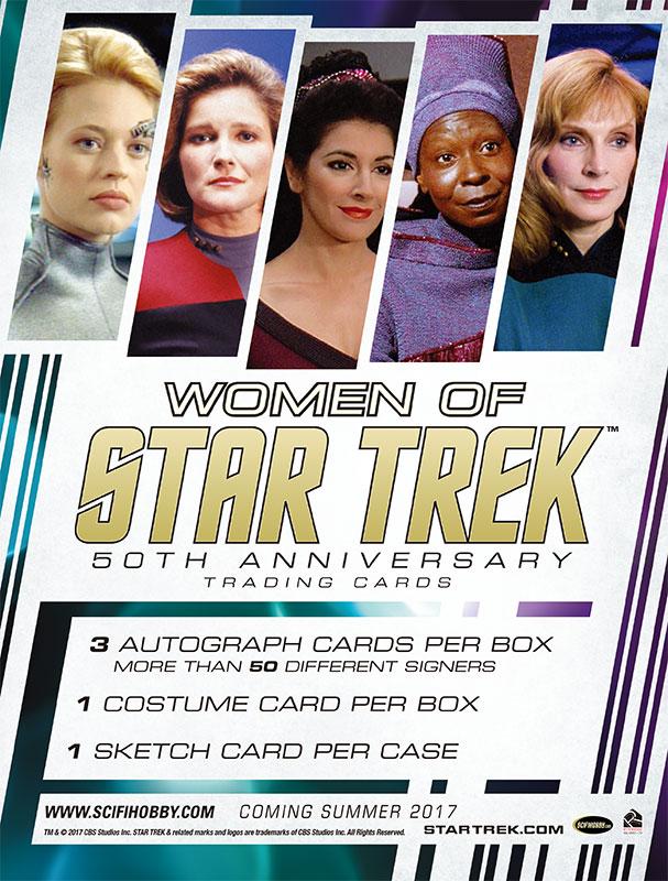 スタートレック 2017 Rittenhouse Women of Star Trek 50th Anniversary Trading Cards 7/31入荷!