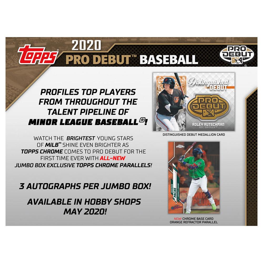 MLB 2020 Topps Pro Debut Baseball Jumbo 6/19入荷!