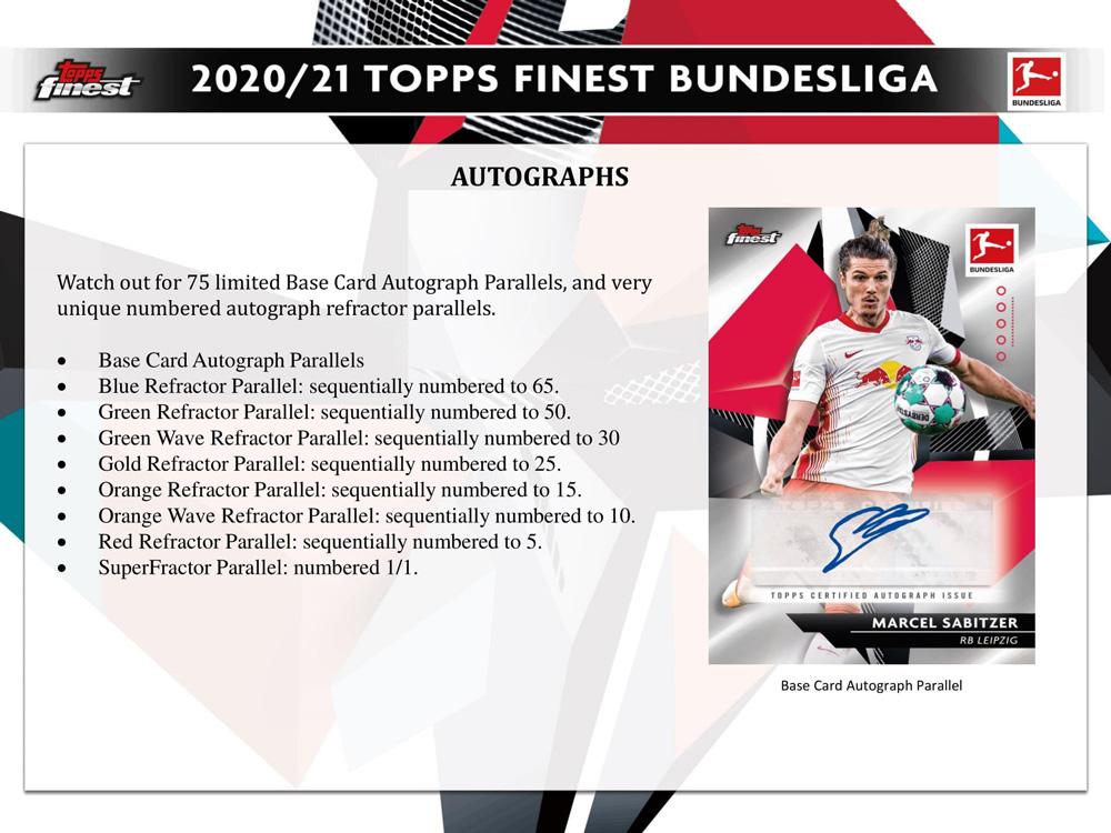 2020-21 Topps Bundesliga Finest Soccer 8/3入荷!