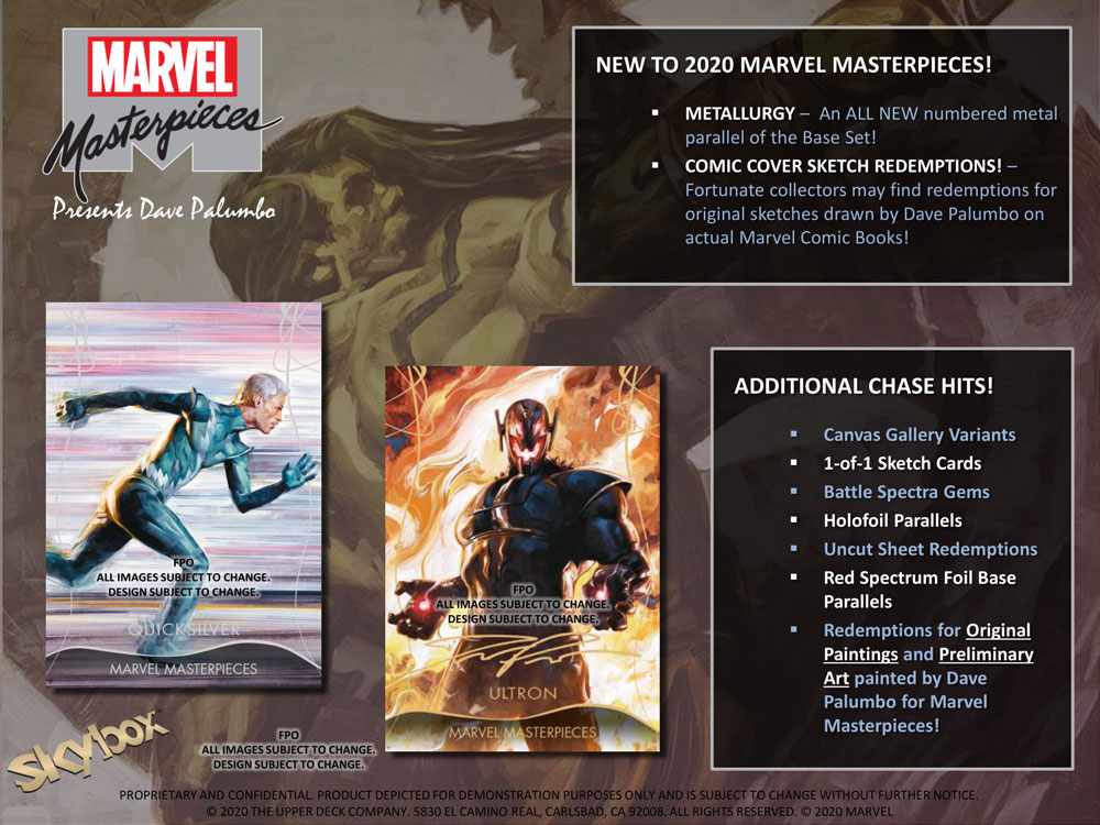 マーベル 2020 Upper Deck Marvel Masterpieces Trading Cards 9/17より店頭発売中!!